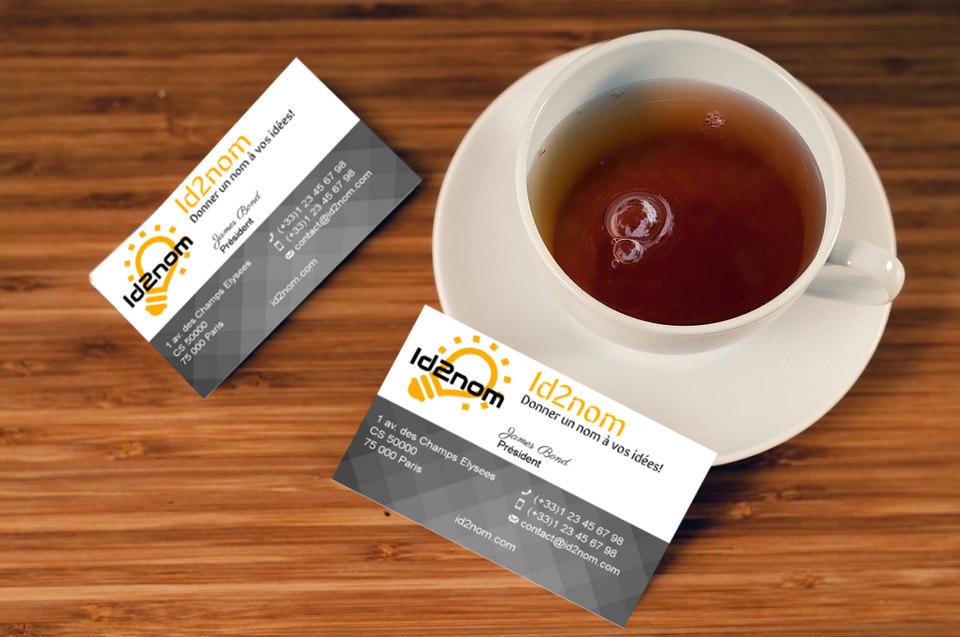 Créez vos cartes de visite gratuitement en ligne avec Id2nom
